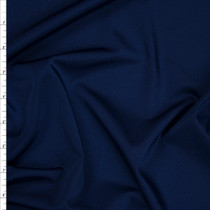 Navy Blue Shiny 4-way Stretch Nylon/Lycra Fabric By The Yard