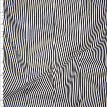 Black and White Chambray Stripe Cotton Shirting Fabric By The Yard