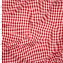 "Red 1/8"" Carolina Gingham from Robert Kaufman Fabric By The Yard"
