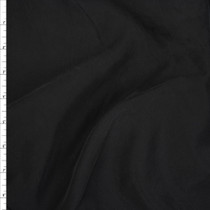 Black Brushed Poly Modal Peachskin Fabric By The Yard