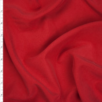 Red Brushed Poly Modal Peachskin Fabric By The Yard