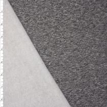 Heather Charcoal Midweight Sweatshirt Fleece Fabric By The Yard