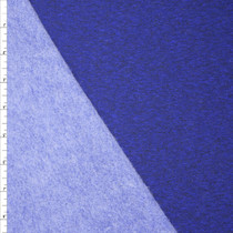 Heather Royal Blue Midweight Sweatshirt Fleece Fabric By The Yard