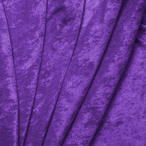 Purple Crushed Panne Velour