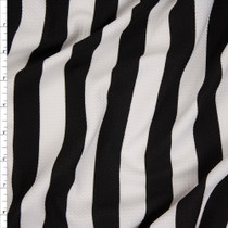 "Black and White 1"" Stripe Liverpool Fabric By The Yard"