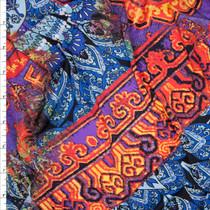 Arabian Kaleidoscope Poly/Lycra Stretch Knit Fabric By The Yard