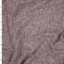 Rose Charcoal Heather Brushed Lightweight Sweater Knit Fabric By The Yard