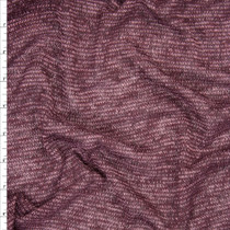 Plum and Lilac Mottled Lines Lightweight Stretch Sweater Knit Fabric By The Yard