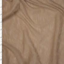 Tan Slubbed Lightweight Sweater Knit Fabric By The Yard