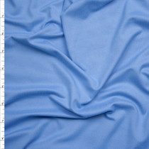 Sky Blue Double Brushed Poly Spandex Knit Fabric By The Yard