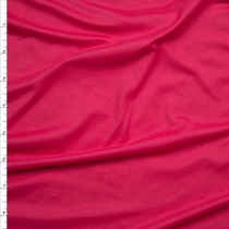 Hot Pink Double Brushed Poly Spandex Knit Fabric By The Yard