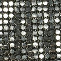Silver Black Big Dot Sequin Fabric