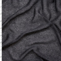 Black Loose Knit Lightweight Sweater Knit Fabric By The Yard
