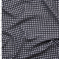 Black and White Basket Weave Print Liverpool Knit Fabric By The Yard