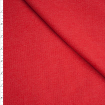Soft Red Heather Midweight Sweatshirt Fleece Fabric By The Yard