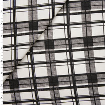 Black and White Plaid Stretch Twill from 'Hudson Jeans' Fabric By The Yard