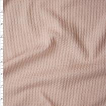 Blush Soft Waffle Sweater Knit Fabric By The Yard