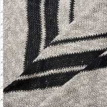 Black on Heather Grey Sweater Knit Fabric By The Yard