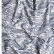 Grey Camouflage Midweight Nylon/Lycra Fabric By The Yard