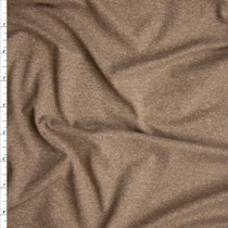 Tan Heather Double Brushed Poly Spandex  Fabric By The Yard