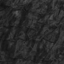 "Black 3"" Organza Ruffle"