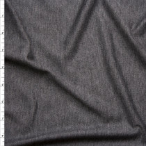 Dark Grey Heather Lightweight French Terry Fabric By The Yard
