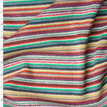 Multi Narrow Stripe Sweater Knit Fabric By The Yard