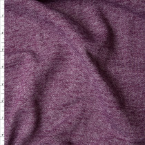 Plum Mottled Midweight Sweatshirt Fleece Fabric By The Yard