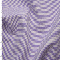 Bright Purple and White Mini Stripe Midweight Seersucker Fabric By The Yard