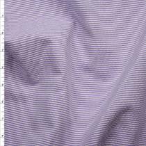 Bright Purple and White Mini Stripe Midweight Seersucker Fabric By The Yard