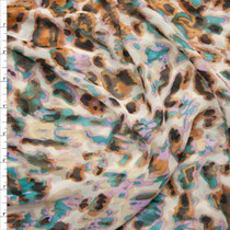 Abstract Leopard Print Chiffon Fabric By The Yard