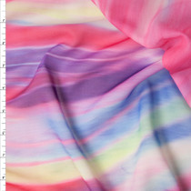 Pink and Purple Soft Swirl Chiffon Print Fabric By The Yard