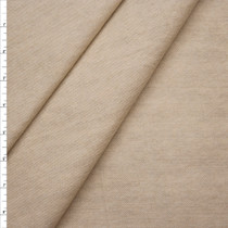 Oatmeal Heavyweight Textured Washed Denim Fabric By The Yard