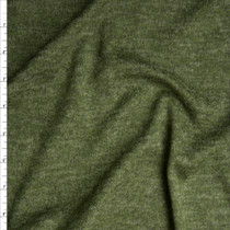 Forest Green Heather Brushed Lightweight Sweater Knit Fabric By The Yard