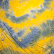 Canary Yellow and Baby Blue Tie Dye Lightweight Stretch Rayon Jersey Knit Fabric By The Yard