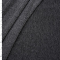 Charcoal Lightweight Stretch Sweatshirt Fleece Fabric By The Yard