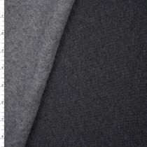 Charcoal Heavyweight Sweatshirt Fleece Fabric By The Yard