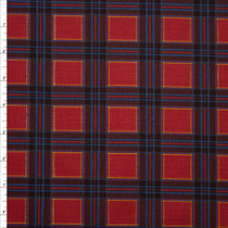 Red, Black, Blue, and Yellow Plaid Stretch Twill from 'Hudson Jeans' Fabric By The Yard