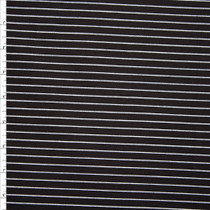 White on Black Vertical Pinstripe Stretch Twill from 'Hudson Jeans' Fabric By The Yard