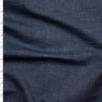 Crisp Lightweight Light Indigo Selvage Chambray Fabric By The Yard