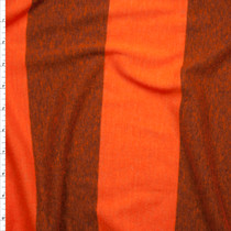 Orange Wide Stripe Lightweight Jersey Knit Fabric By The Yard