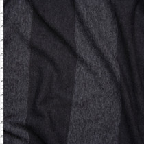 Black Wide Stripe Lightweight Jersey Knit Fabric By The Yard