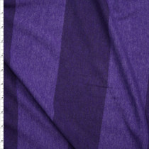 Purple Wide Stripe Lightweight Jersey Knit Fabric By The Yard