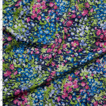 Pink, Green, and Blue Small Floral Nylon/Lycra Print Fabric By The Yard
