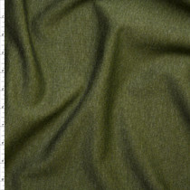 Olive Green Heather Midweight Stretch Ponte De Roma Fabric By The Yard