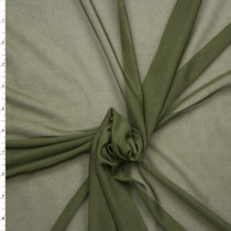 Olive Green Power Mesh Fabric By The Yard