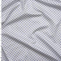 Blue on White Mini Polka Dot Stretch Nylon/Lycra Fabric By The Yard