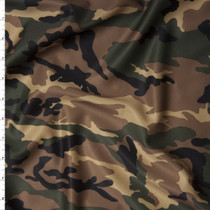 Classic Camouflage Stretch Nylon/Lycra Fabric By The Yard