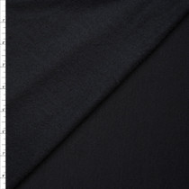 Soft Midweight Black Sweatshirt Fleece Fabric By The Yard