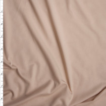 Cream Double Brushed Poly Spandex Fabric By The Yard